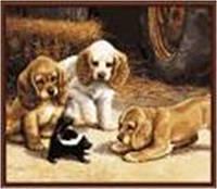 "Картина по номерам G336 ""Три щенка"" 40х50см краски акрил +кисть -3шт"