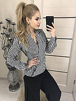 Рубашка в полоску женская