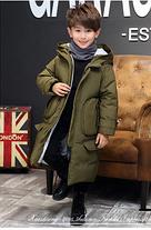 Зимний детский длинный пуховик на ребёнка на зиму, фото 2