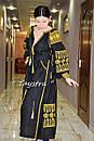 Вышивка золотом на платье черное бохо вышиванка лен, этно, стиль бохо шик, вишите плаття вишиванка, Bohemian, , фото 7