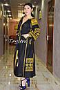 Вышивка золотом на платье черное бохо вышиванка лен, этно, стиль бохо шик, вишите плаття вишиванка, Bohemian, , фото 8