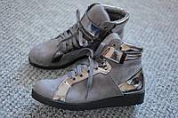 Женские ботинки Vices Gray Chrome деми Италия 36 - 41