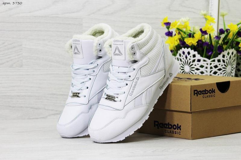Жіночі зимові кросівки Reebok (3730) білі cfdee3e15eea4