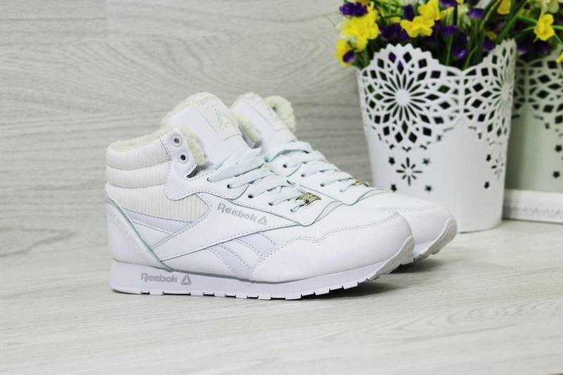 Жіночі зимові кросівки Reebok (3730) білі f9192d0aa5650