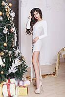 Вечернее платье в пол с красивым разрезом сбоку 2 цвета