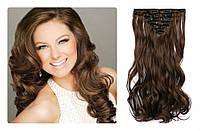 Волосы трессы на заколках ТЕРМО 6 прядей №2/30  волна длина 47 см