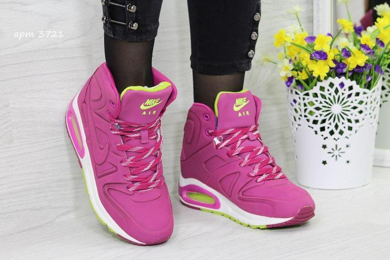 c76d5ec48cf2ef Жіночі зимові кросівки 3721 Nike Air Max малинові - Камала в Хмельницком