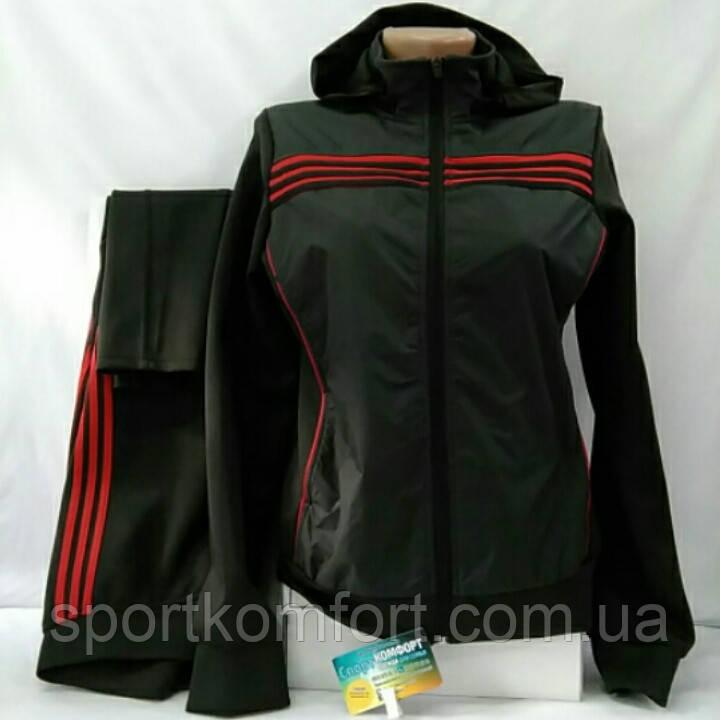 3dc823c41383 Спортивный костюм из эластана темно-серый, с капюшоном, узкие брюки, размер  48