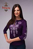 Жіноча вишиванка Писанка фіолетова