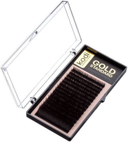 Ресницы для наращивания Kodi Professional Gold, С-0.1 (16 рядов: 13 мм.)