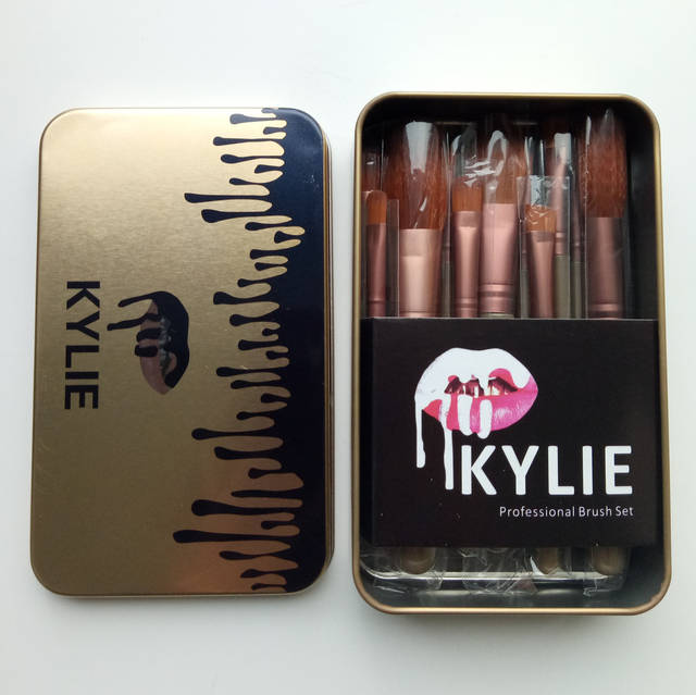 Набор кистей Kylie 12 шт в металическом футляре 120грн, фото 3