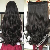 Волосы на заколках затылочная прядь волна №1 60см