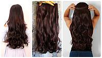 Волосы на заколках затылочная прядь волна длина 60см №33
