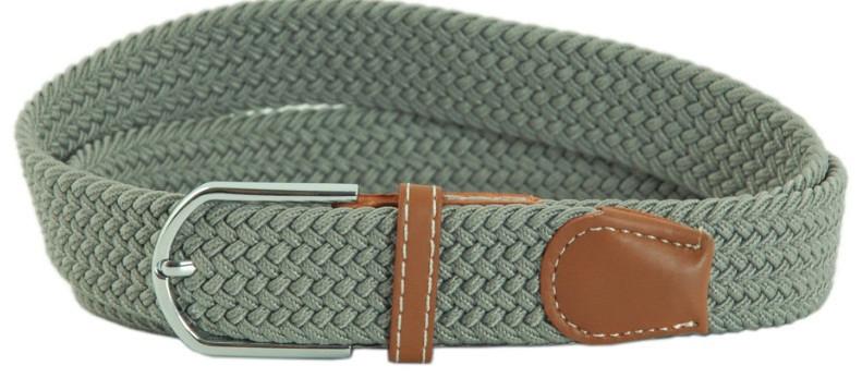 Стильный ремень TRAUM 8718-14, полиэстер, кожа PU 3,4х100 см. Цвет серый. Унисекс.