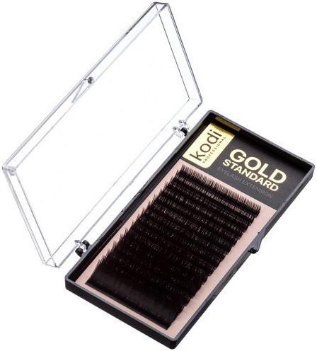 Ресницы для наращивания Kodi Professional Gold, D-0.12 (16 рядов: 9/10/11/12/13/14 мм.)