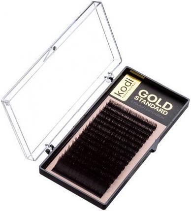 Ресницы для наращивания Kodi Professional Gold, D-0.12 (16 рядов: 9/10/11/12/13/14 мм.), фото 2