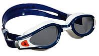 Очки плавательные Aqua Sphere Kaiman Exo; сине-белые; тёмные линзы