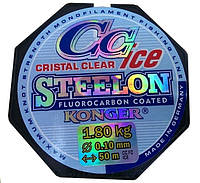 Зимняя леска Konger Steelon CC Cristal Clear Fluorocarbon
