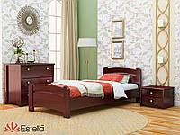 Кровать односпальная из натурального дерева Венеция Люкс (Бук) массив 90*200