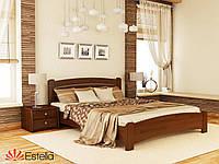 Кровать двухспальная Венеция Люкс (Бук) щит ТМ Эстелла 80*190