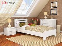 Кровать из натурального дерева Венеция Люкс (Бук) ТМ Эстелла 80*190 щит