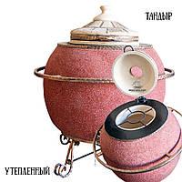 Тандыр Теплота Триумф (3-УМП) утепленный, мрамор, кованый поручень