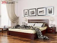 Двухспальная кровать деревянная с подъемным механизмом Селена  (Бук) массив. Оригинал 120*200