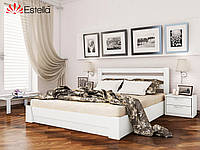 Двухспальная кровать из натурального дерева с подъёмным механизмом Селена  (Бук) щит 140*200
