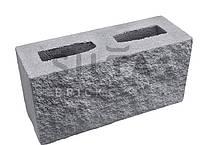 Заборный блок «Силта Брик» декоративный 390×190x140 мм серый