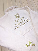 Махровый халат с индивидуальной вышивкой, фото 1