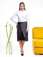 Женская однотонная рубашка с длинным рукавом Leila (разные цвета)