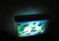 Светильник аквариум, 22х30, светодиодный, подсветка, ночник, с рыбками , фото 1