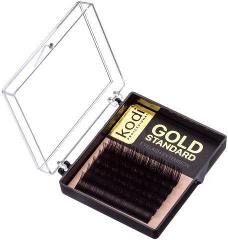 Ресницы для наращивания Kodi Professional Gold, В-0.03 (6 рядов: 12 мм.)