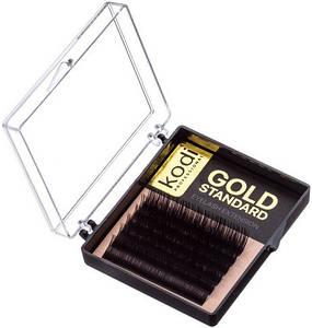 Ресницы для наращивания Kodi Professional Gold, В-0.03 (6 рядов: 6 мм.)
