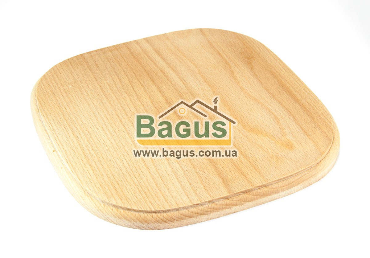 Деревянная подставка 25х25см (бук) квадратная под порционные сковороды