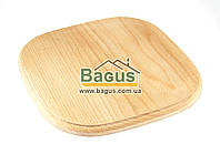 Деревянная подставка 25х25см (бук) квадратная под порционные сковороды, фото 1
