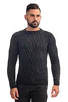 Свитер мужской вязаный шерстяной стильный размеры 48-58