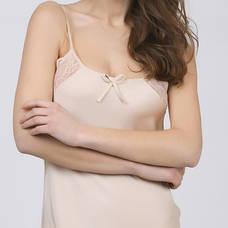 Женская ночная сорочка.Атлас, шампанское- 318-01, фото 3