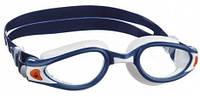 Очки для плавания Aqua Sphere Kaiman Exo; сине-белые; прозрачные линзы