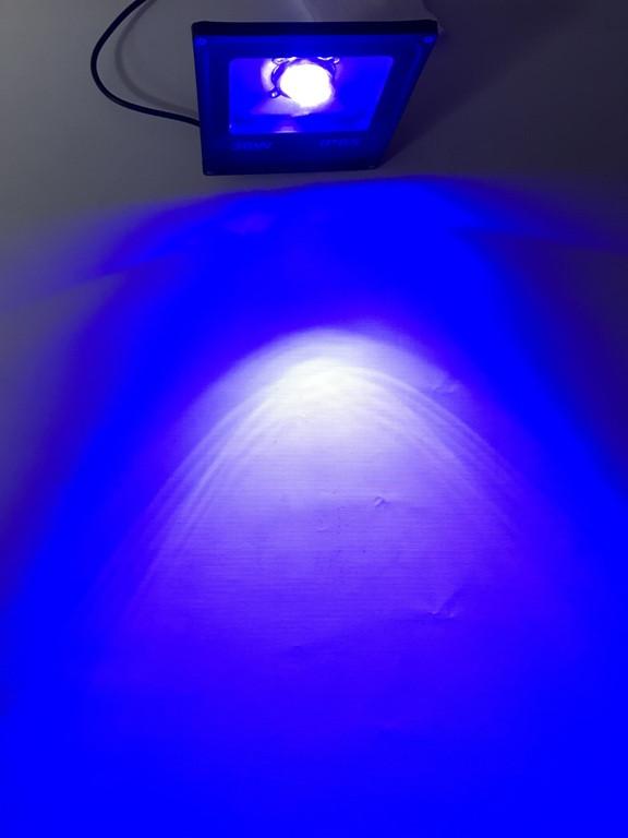 Світлодіодний лінзований прожектор SL-30Lens 30W синій IP65 Slim Код.59149