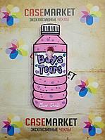 Объемный 3D силиконовый чехол для Meizu M3e Бутылка розовая
