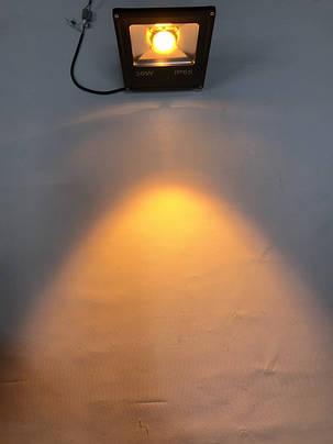 Светодиодный линзованый прожектор SL-30Lens 30W желтый IP65 Slim Код.59150, фото 2
