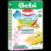 """Bebi Рremium. Безмолочная каша """"Кукурузная низкоаллергенная обогащенная пребиотиками"""" 5 мес+ (019835)"""