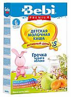 Bebi Premium. Молочная каша «Гречка, курага, яблоко»,  5 мес+ 200 г. (3838471019996)