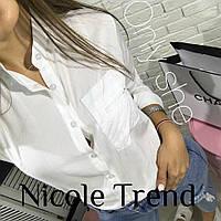 Женская элегантная рубашка-блузка с воротником стоечкой, фото 1