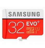 Карта памяти Samsung EVO Plus microSDXC UHS-I 32GB сlass10 +SD адаптер (MB-MC32GA/RU)