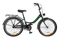 """Складной велосипед 24"""" Formula SMART с фонарём 2018 (черно-зеленый)"""