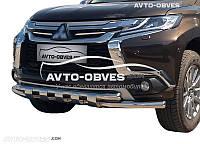 Защита переднего бампера Mitsubishi Pajero Sport (2016-...) Ø60*60