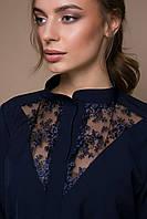 Платье с кружевной отделкой VERA темно-синее