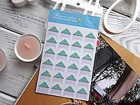 Уголки для фото, самоклеющиеся, Flower blue, 1 лист (24 шт)
